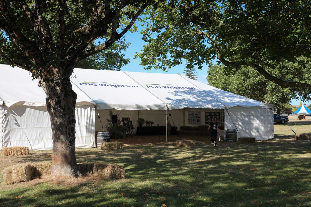 Image of a marquee at Solway Showgrounds