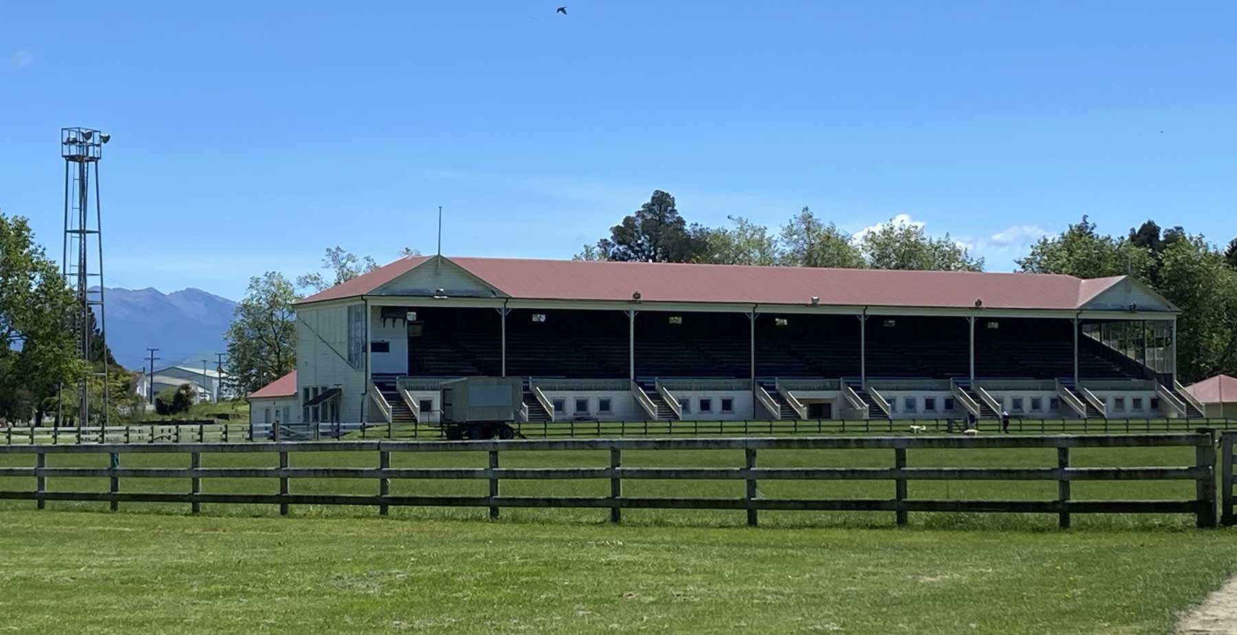 An image of the grandstand at solway showgrounds
